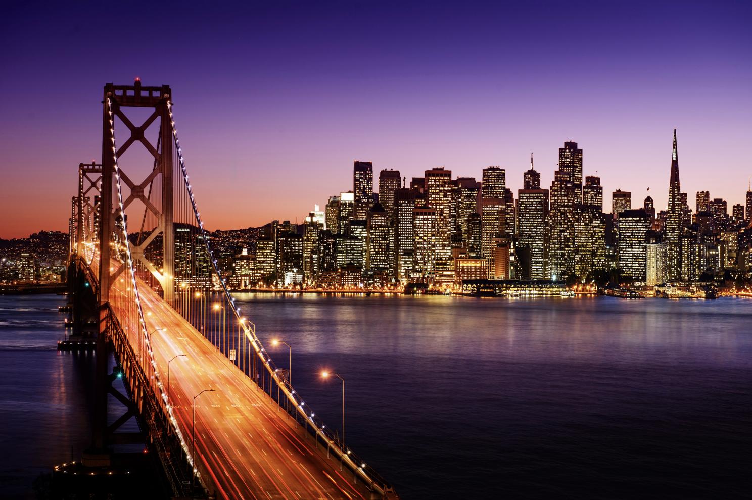 金门大桥和旧金山市区