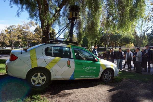 Google Map及时街景的拍摄车